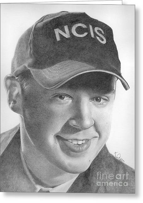 Ncis Greeting Cards - Sean Murray Greeting Card by Karen  Townsend