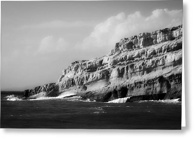 Crete Greeting Cards - Seaside in Crete Greeting Card by Jebulon