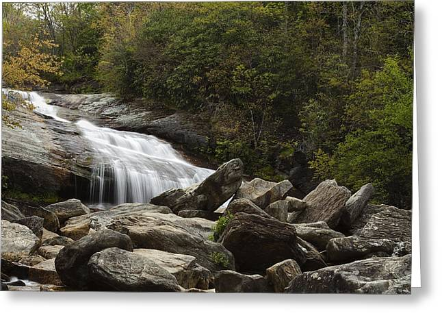 Rapids Greeting Cards - Second Falls - Blue Ridge Falls Greeting Card by Andrew Soundarajan