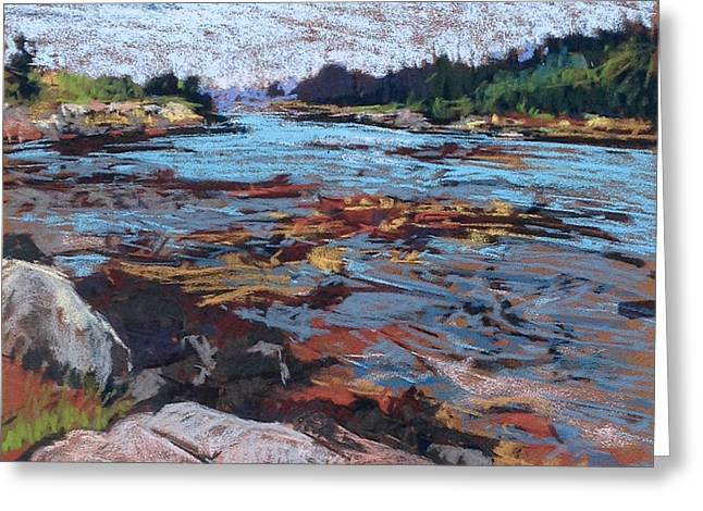 Maine Landscape Pastels Greeting Cards - Secret Cove Greeting Card by Kay Sullivan