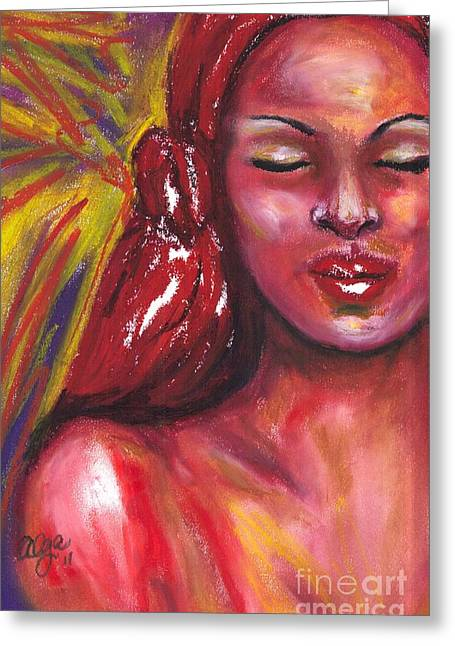 African-american Pastels Greeting Cards - Secret Place Greeting Card by Alga Washington