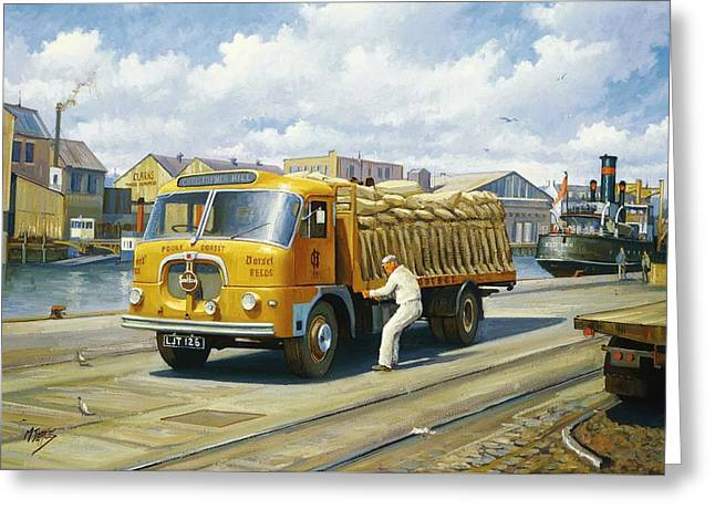 Sale Paintings Greeting Cards - Seddon at Poole docks. Greeting Card by Mike  Jeffries