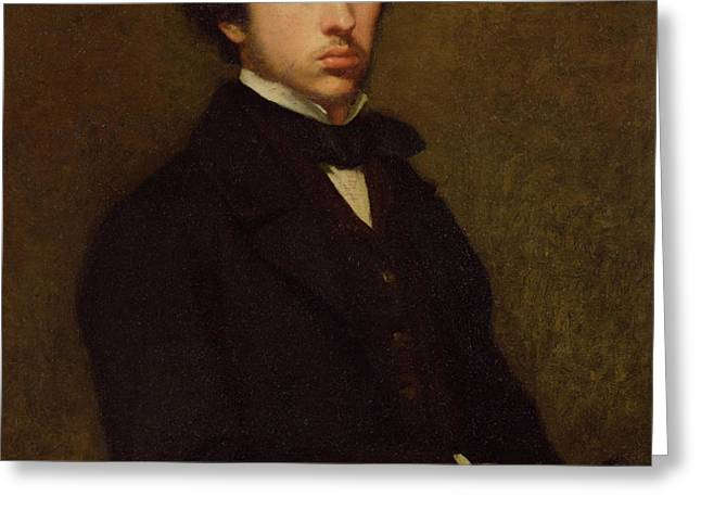 Self portrait Greeting Card by Edgar Degas