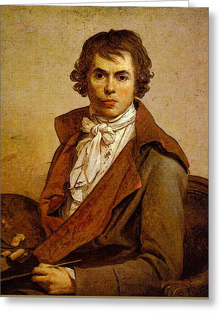 Self-portrait Greeting Card by Jacques-Louis David