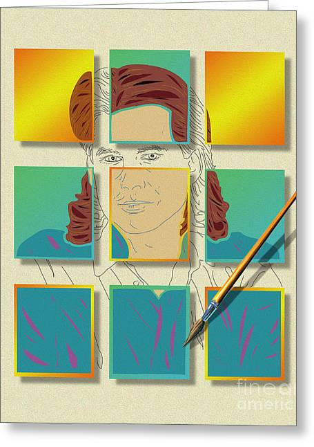 Self-portrait Greeting Cards - Self Portrait Greeting Card by Todd L Thomas