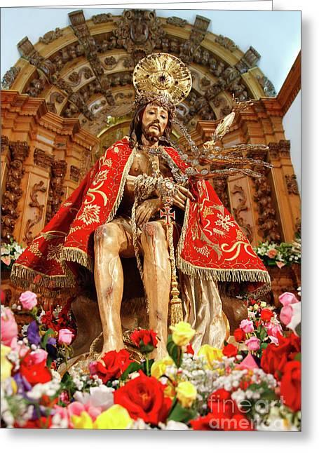 Azoren Greeting Cards - Senhor Bom Jesus da Pedra Greeting Card by Gaspar Avila