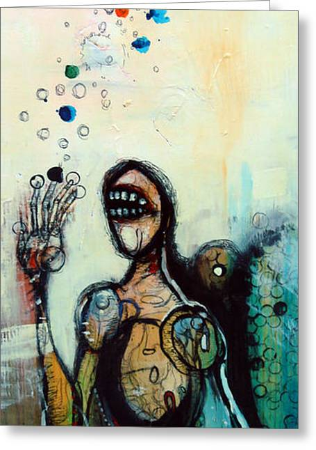 Figure Drawing Mixed Media Greeting Cards - Separation of Mind Greeting Card by Mark M  Mellon