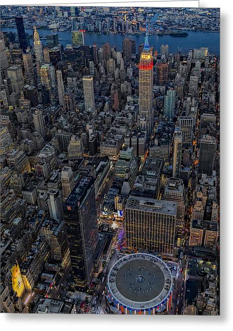 September 11 Nyc Tribute Greeting Card by Susan Candelario