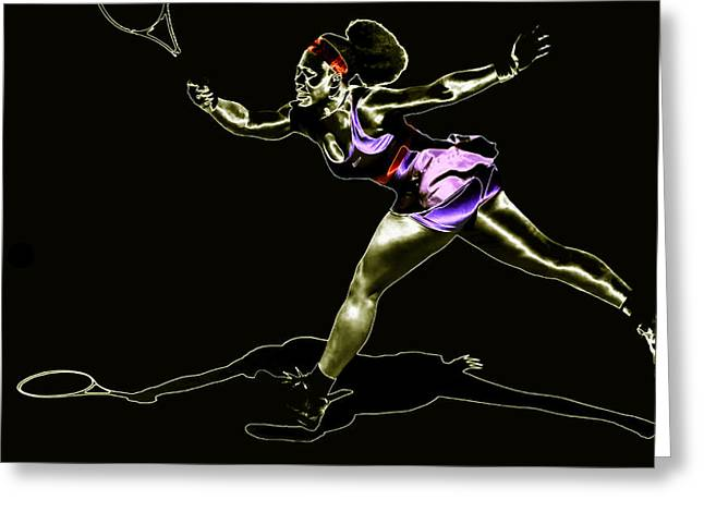 Serena Williams Greeting Cards - Serena Williams Extended Greeting Card by Brian Reaves