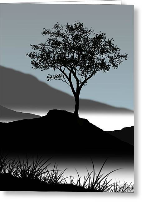 Single Greeting Cards - Serene Greeting Card by Chris Brannen