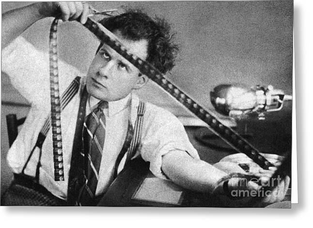 Scissors Greeting Cards - Sergei Eisenstein (1898-1948) Greeting Card by Granger
