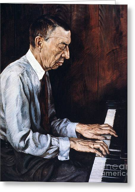 Sergei Rachmaninoff Greeting Card by Granger