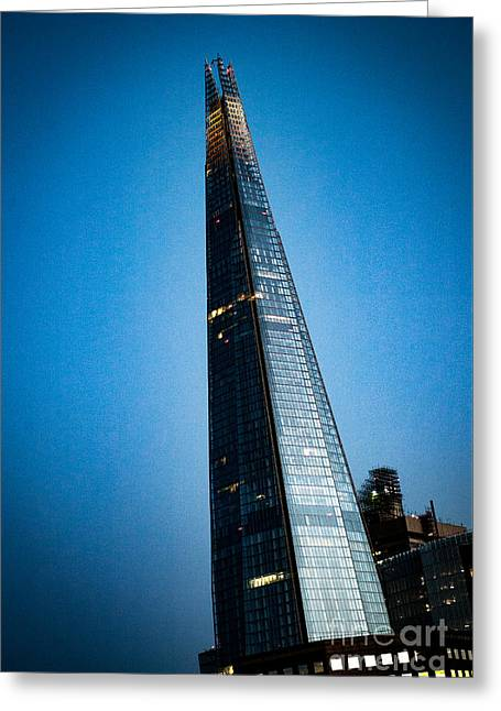 People Pyrography Greeting Cards - Shard -London.  Greeting Card by Cyril Jayant