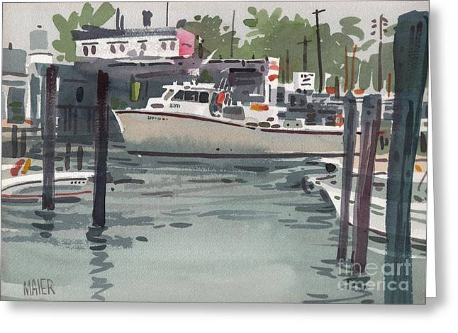 Fishing Boats Greeting Cards - Shark River Inlet Greeting Card by Donald Maier