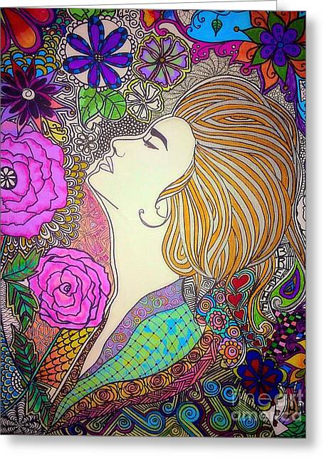 Cava Drawings Greeting Cards - Shelby Greeting Card by Marissa Gullaba