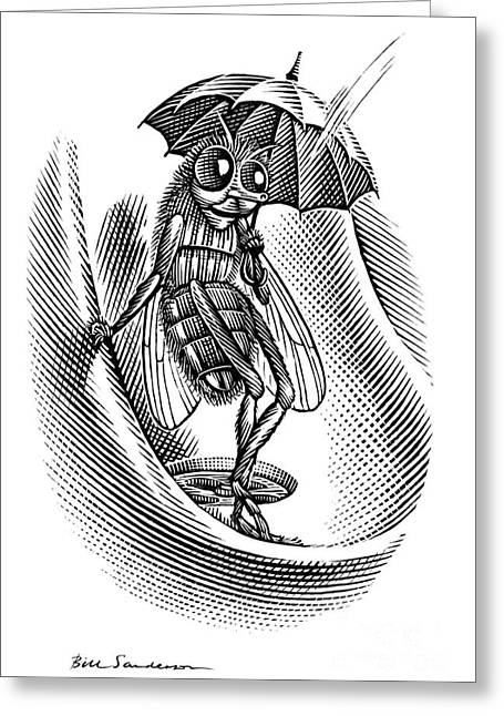 Urinal Greeting Cards - Sheltering Insect, Conceptual Artwork Greeting Card by Bill Sanderson