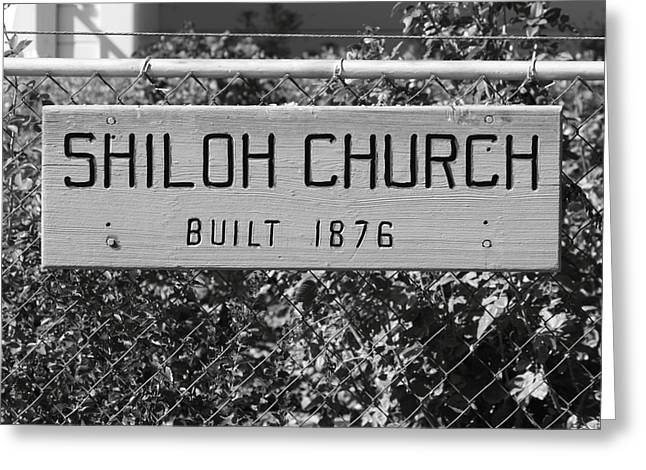 Shiloh Church Sign Birds Landing CA Greeting Card by Troy Montemayor