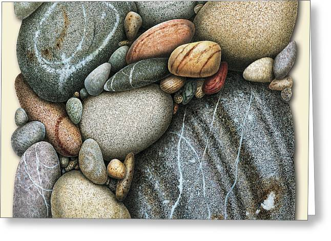 Vignette Greeting Cards - Shore Stones 3 Greeting Card by JQ Licensing