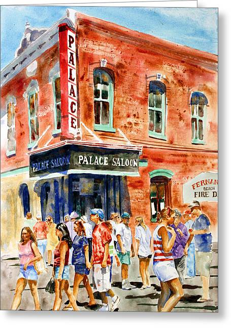 Saloons Greeting Cards - Fernandina Beach Shrimp Festival Greeting Card by Shirley Sykes Bracken