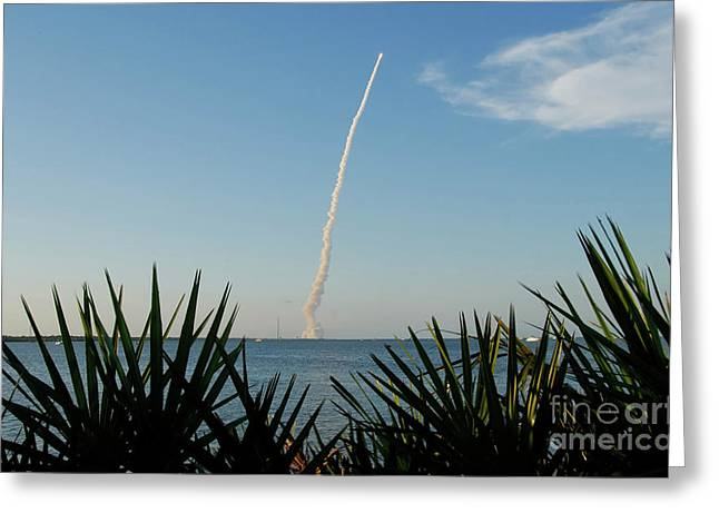 Shuttle Greeting Cards - Shuttle Launch Greeting Card by David Lee Thompson