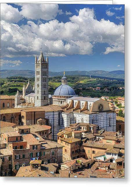 Sienna Italy Greeting Cards - Siena Cathedral Greeting Card by Mick House