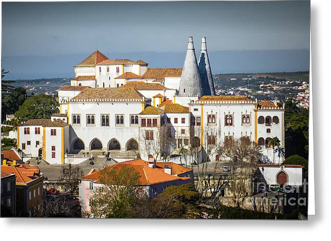 Sintra National Palace Greeting Card by Carlos Caetano