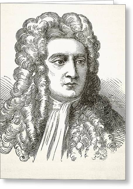 Isaac Newton Greeting Cards - Sir Isaac Newton 1642 To 1727, English Greeting Card by Ken Welsh
