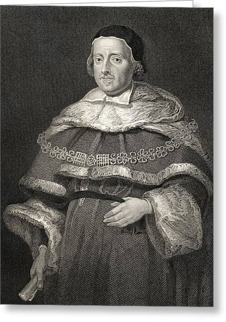 Chief Justice Drawings Greeting Cards - Sir Matthew Hale, 1609-1676. Lord Chief Greeting Card by Vintage Design Pics