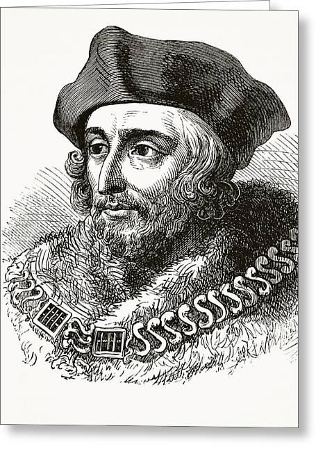 Many Drawings Greeting Cards - Sir Thomas More Aka Saint Thomas More Greeting Card by Ken Welsh