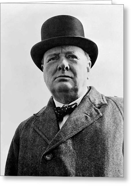 British Greeting Cards - Sir Winston Churchill Greeting Card by War Is Hell Store