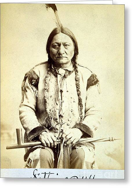 Sitting Bull, Lakota Tribal Chief Greeting Card by Science Source