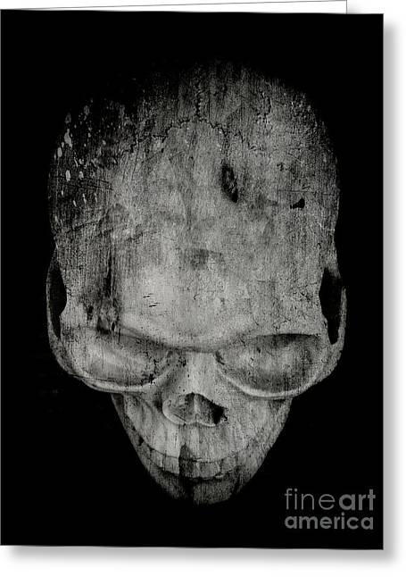 Dark Magic Greeting Cards - Skull Greeting Card by Edward Fielding