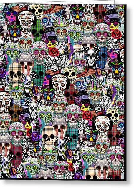 Classic Horror Greeting Cards -  Halloween Greeting Card by Mark Ashkenazi
