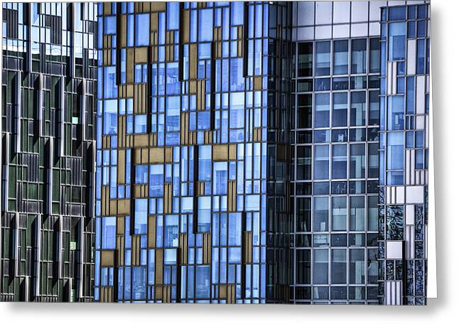 Modern Photographs Greeting Cards - Skyscrapers Greeting Card by Joana Kruse