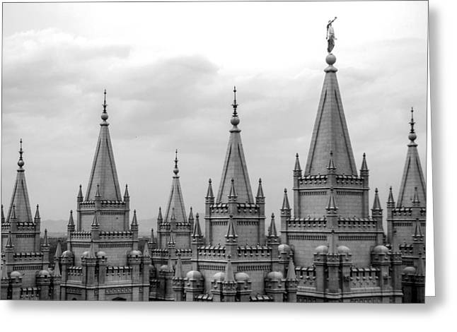 Salt Lake City Temple Photography Greeting Cards - SLC Temple Greeting Card by Southwindow Eugenia Rey-Guerra