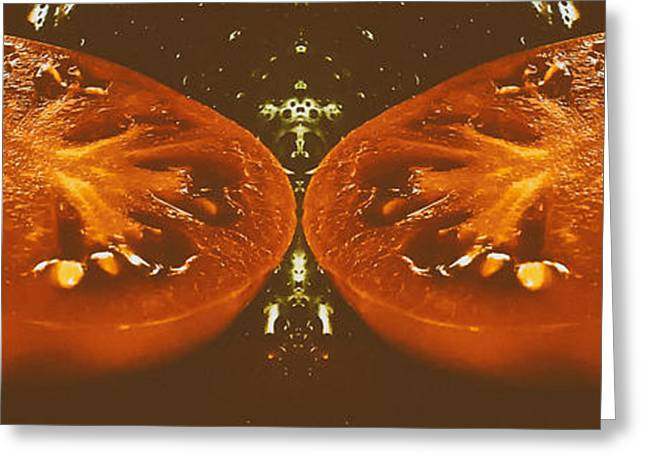 Healthy Greeting Cards - Sliced Tomatoes  Greeting Card by Frauke Feind