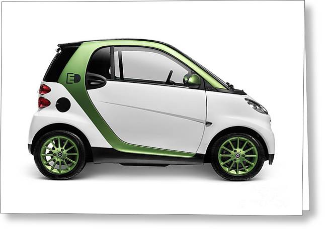 Plugged In Greeting Cards - Smart Fortwo Electric Drive Greeting Card by Oleksiy Maksymenko
