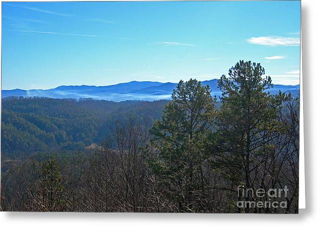 Table Greeting Cards - Smokey Mountains Greeting Card by Skip Willits