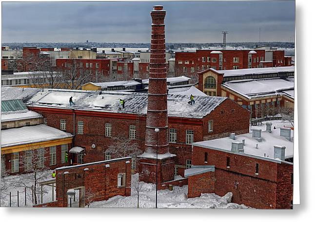 Helsinki Finland Greeting Cards - Snow Cleaners In Helsinki Greeting Card by Child Photography Of Helsinki