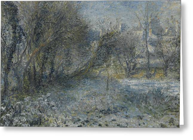 Snow-covered Landscape Greeting Cards - Snow covered Landscape Greeting Card by Auguste Renoir