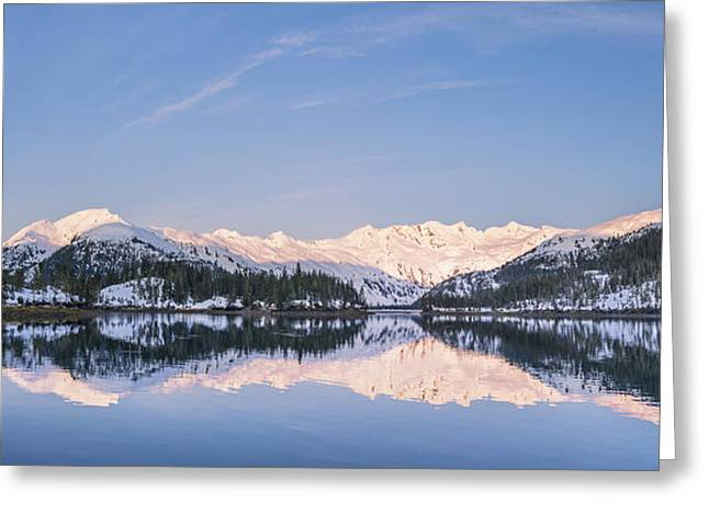 Reflections Of Sky In Water Greeting Cards - Snowy Scenic Reflected In The Waters Greeting Card by Kevin Smith