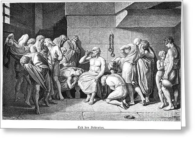 Cell Death Greeting Cards - Socrates (470?-399 B.c.) Greeting Card by Granger