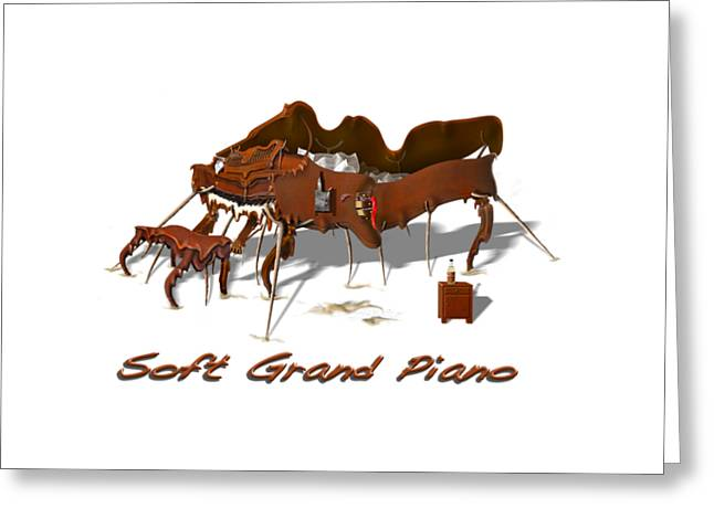 T Shirts Greeting Cards - Soft Grand Piano  Greeting Card by Mike McGlothlen