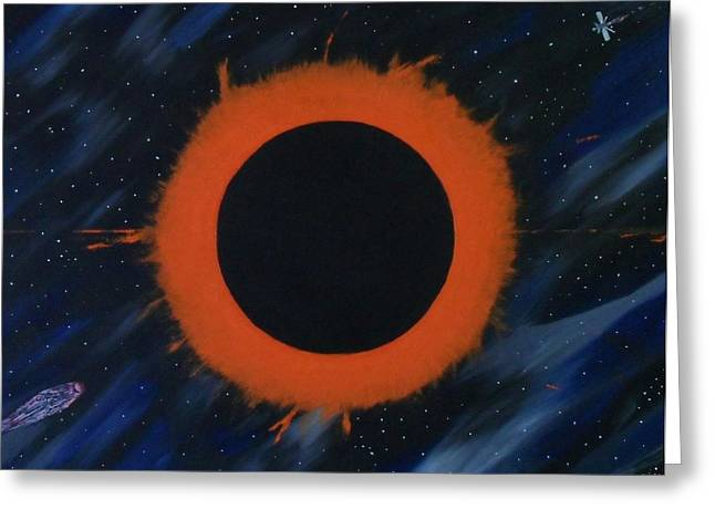 Solar Eclipse Paintings Greeting Cards - Solar Eclipse Greeting Card by Paul F Labarbera