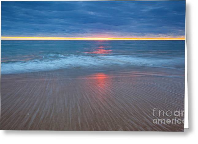 Sunset Seascape Greeting Cards - Tranquil  Greeting Card by Bill  Robinson