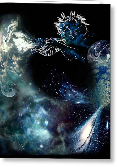 Cosmic Manifestation Greeting Cards - Song of the Universe Greeting Card by Tony Macelli