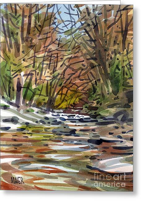 Autumn Prints Greeting Cards - Sope Creek Five Greeting Card by Donald Maier