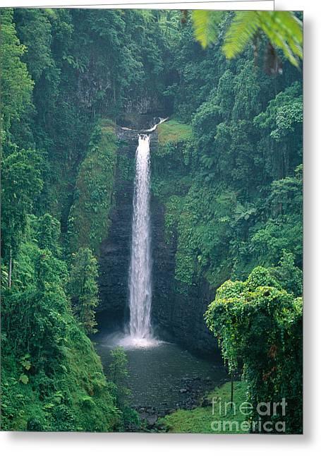 Sopoaga Falls Greeting Card by Kyle Rothenborg - Printscapes