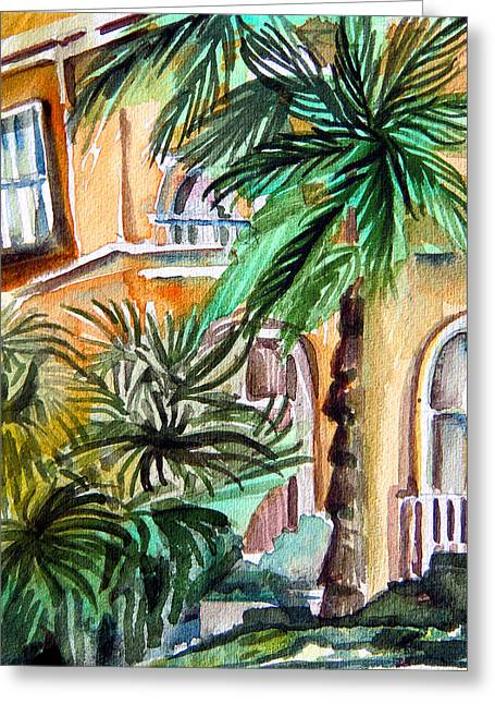 Adobe Drawings Greeting Cards - Sorrento Greeting Card by Mindy Newman