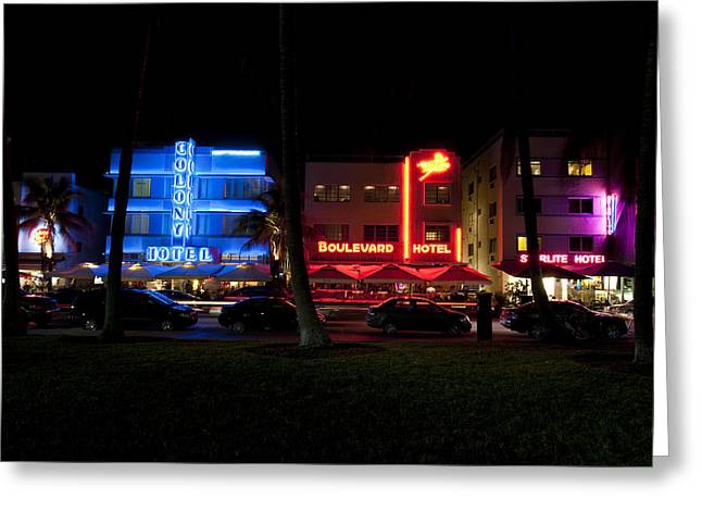 Miami Heat Greeting Cards - South Beach Miami Greeting Card by Tom Dowd
